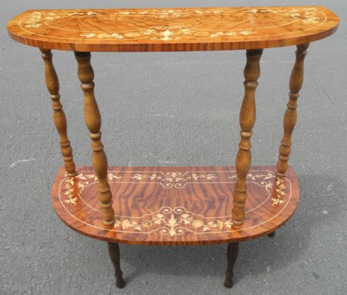 Small Inlaid Walnut Console Table